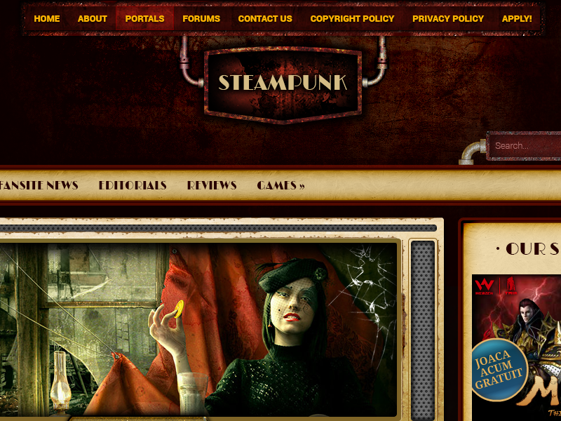 steampunk web template by premiumpsd dribbble dribbble