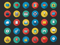 Flat Vector Icon Set