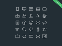 Outlined - iOS 7 Style Icon Set