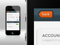 App design - Settings page