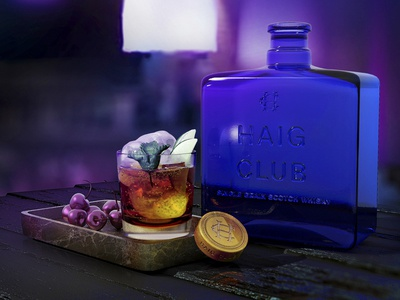 Haig Club Scene Render haig club render cg 3d design bottle design drink