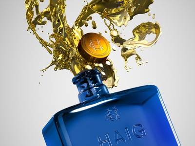 Haig Club Gold Explosion haig club render cg 3d design bottle design drink