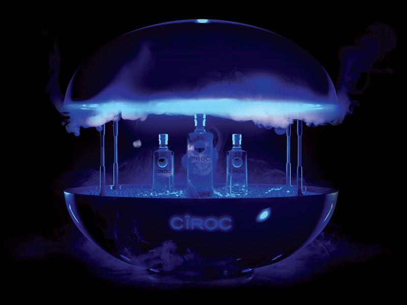 Ciroc Orb Render bottle drink concept diageo ciroc cg 3d design 3d