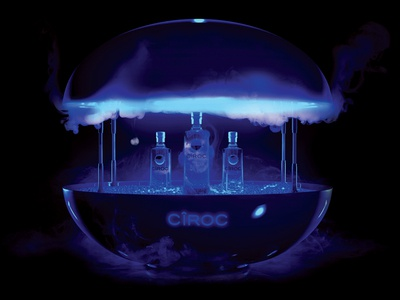 Ciroc Orb Render bottle drink concept diageo ciroc cg 3d design 3d
