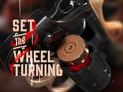 Bulleit® Whiskey Shots - Concept Drinking Game whisky whiskey shots bulleit gun bourbon cgi 3d design