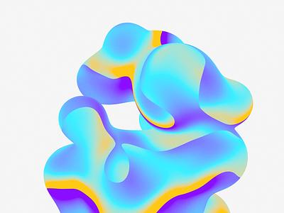 Color Noise design illustration c4d