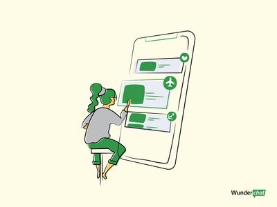 One Stop App web app vector flat design illustration