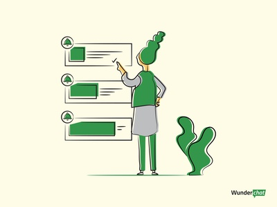 Notification Manager app web vector flat design illustration