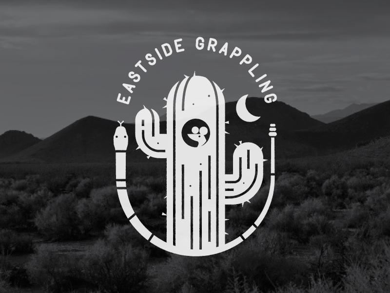 eastside grappling snake icon logo desert cactus rat mouse grappling