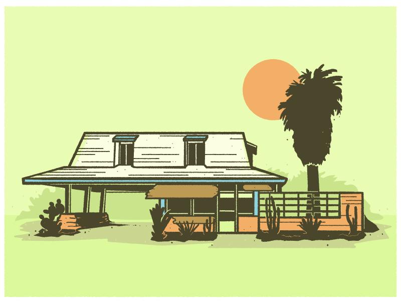 29 Palms Inn architecture sun palm tree california desert hotel