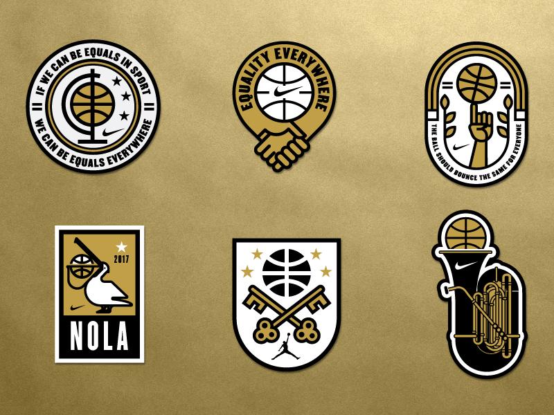 Nike Equality NOLA Patches basketball branding logo equality badge new orleans nike