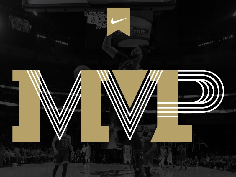 MVP Type design branding type basketball nike typography