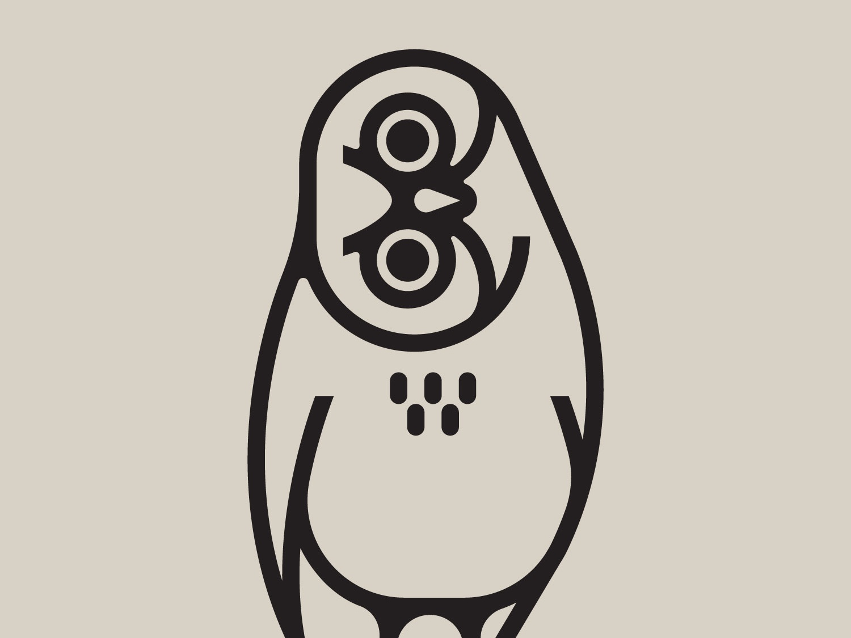 Burrowing Owl monoweight animal bird owl