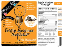 Heidis Meatless Meatballs Mini