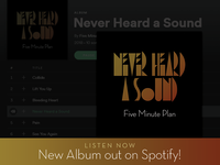 Five Minute Plan - Never Heard A Sound Album Art