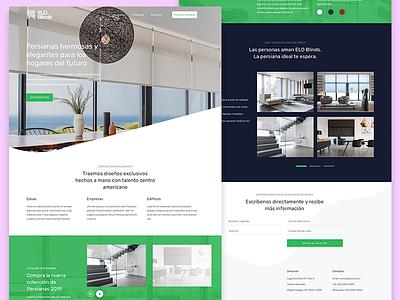 Elo blind proposal landing page concept landing design landing page responsive logo blinds web design