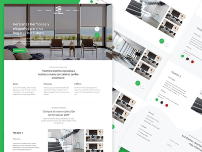 Elo Blinds Landing web layout responsive design landing page design mexico mexico city design responsive logo branding web design