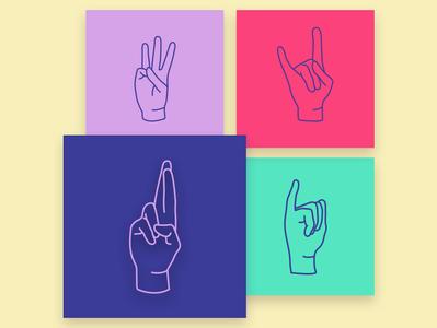 Hebrew alphabet in sign language sign language design hebrew hebrew type icon design iconography icon set vector illustration