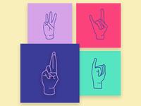 Hebrew alphabet in sign language