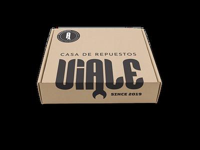 Packaging and logo design for Viale ecommerce automotive vector package design branding venezuela