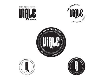 Viale Logo car repair automobile minimalist logo badge logo badge design typography venezuela branding logo