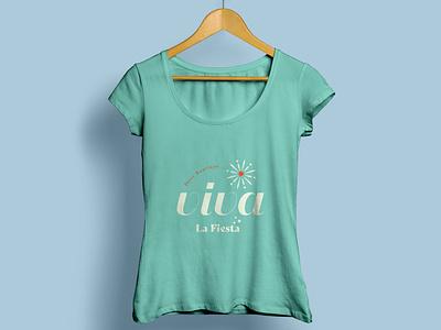 Tshirt for ViVa turquoise green illustration logo venezuela identity brand design clothing design