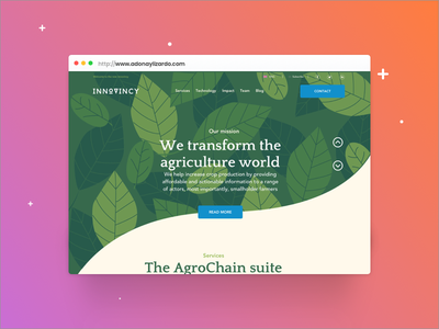 Website redesign redesign concept uxui ux farm technology nature responsive webdesign redesign
