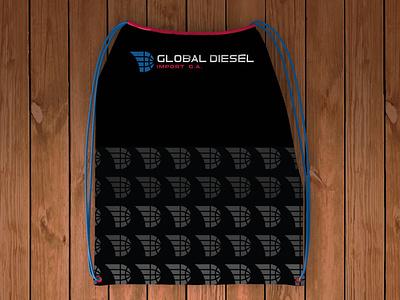 WIP logo branding textile pattern bag design