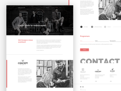 Web Design for a Hairdresser functional simple design clean design hairdresser sketch app web design
