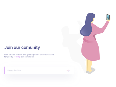 Newsletter Illustration simple clear clean web design illustration ui design newsletter