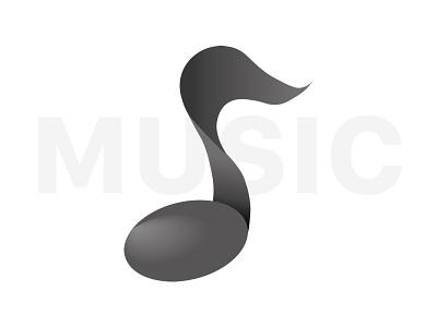 Music Note icon adobe illustration realist 3d icon music black