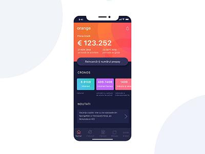 Mobile Network Dashboard orange sketch psd ui mobile dashboard