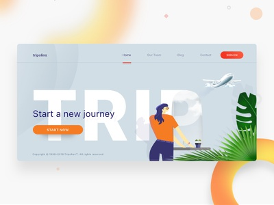 Tripolino website header landing page header website typography webdesign site web ui psd sketch ux
