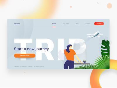 Tripolino website header