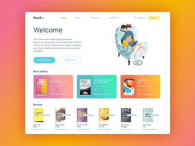 Website Homepage  / UI Design trending new fresh clean typography design web illustration ux ui
