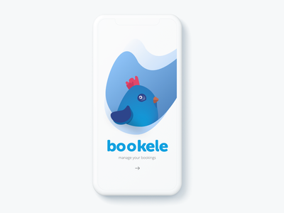 Bookele icon typography logo design animation sketch app clean ui