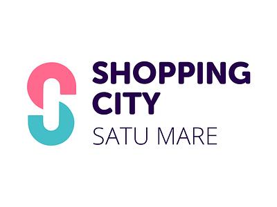 Shopin City type branding brand design logo