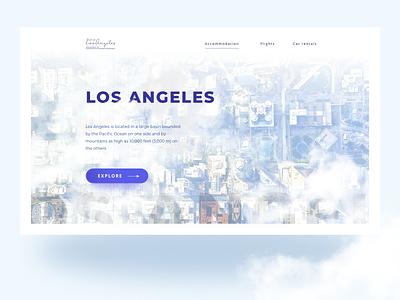 LA Homepage Design typography simple webdesign user interface ux clean ui
