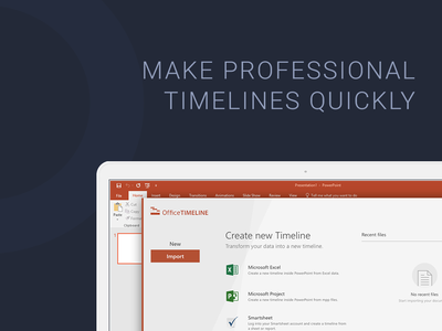 Office Timeline - Power Point Add-on sketch app user interface typography design ux clean ui