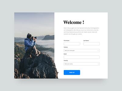 Sign Up Page dailyui ui design web design design webdesign user interface sketch app ux clean ui