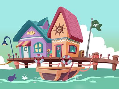 Pirate Wharf wharf pier pirate