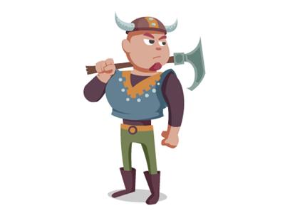 Viking cartoon concept viking