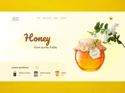 Магазин продажи мёда branding ux design figma