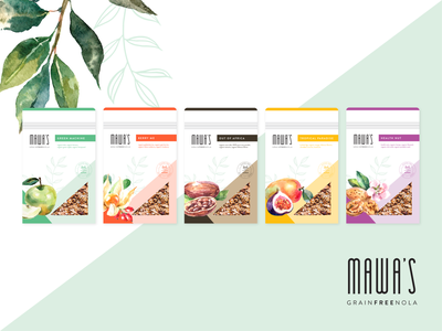 Granola Packaging Design clean design organic minimal branding packaging design