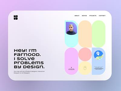 Product Design Portfolio portfolio design designer product personal portfolio website hero portfolio