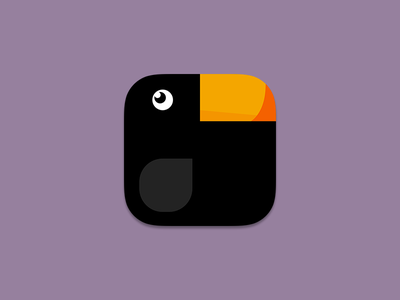 Curious Crow app icon bird animal ios app icon crow