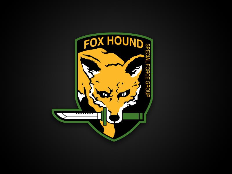 Fox hound logo by bryan horsey on dribbble - Foxhound metal gear wallpaper ...