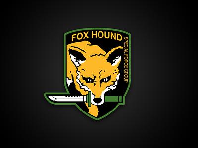 Fox Hound Logo logo ai illustrator vector game mgs metal gear solid fox hound