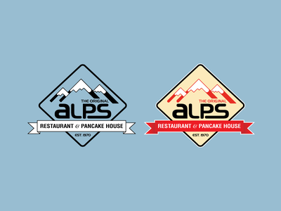 ALPS Logo Redesign logo ai vector illustrator branding logo design restaurant chicago food