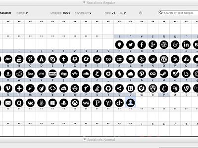 Icon Font font ai vector svg ttf typography web font fontagrapher